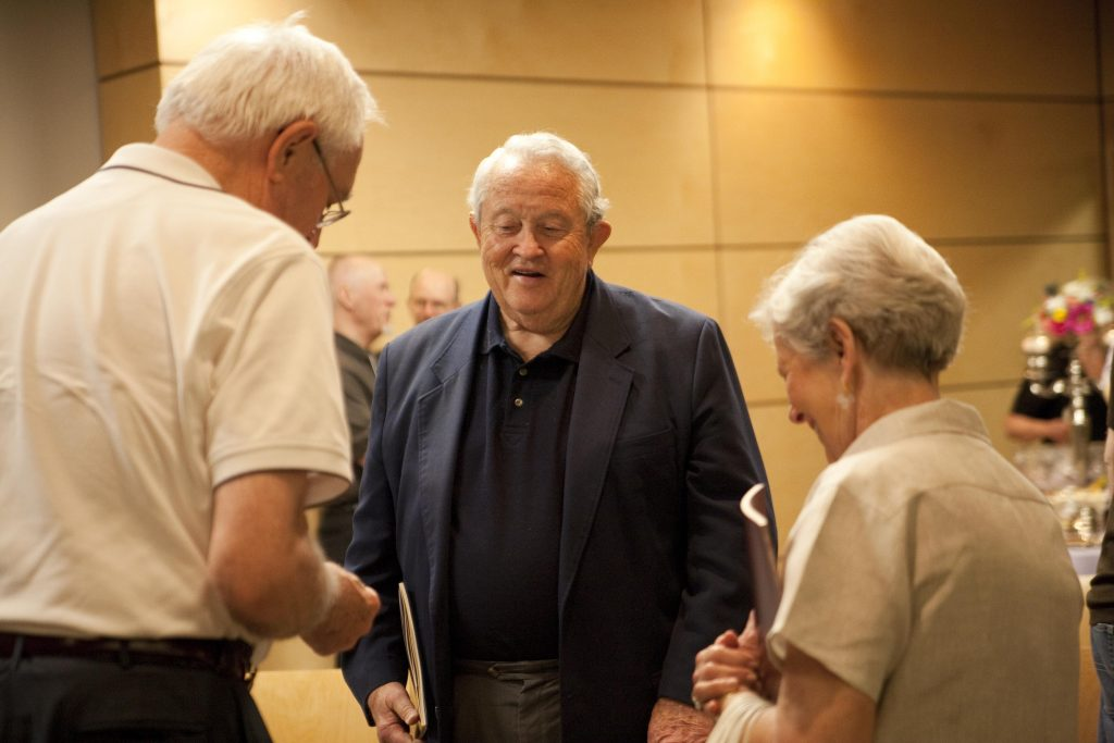 Tom Olbricht and Bob and Bonnie Hooper at the 2010 Christian Scholars' Conference